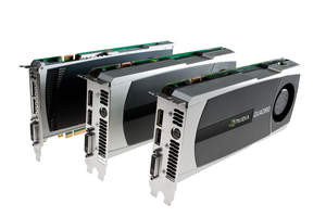NVIDIA Quadro 4000 5000 6000 together side by side LtoR