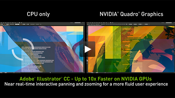 Accelerate Illustrator CC with advanced NVIDIA Technologies
