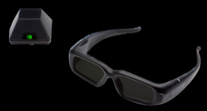 NVIDIA 3D Vision Pro-glasses and emitter